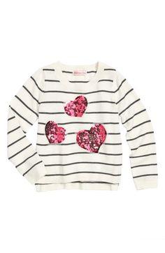 Design History 'Heart' Sweater (Toddler Girls) | Nordstrom