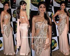 Actress Shilpa Shetty dazzles in Gaurav Gupta on the sets on Nach Baliye - Season 6 Indian Wedding Bride, Indian Wedding Outfits, Indian Outfits, Pakistani Dresses, Indian Sarees, Indian Dresses, Indian Attire, Indian Wear, Indian Style