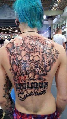 The walking simpsons tattoo