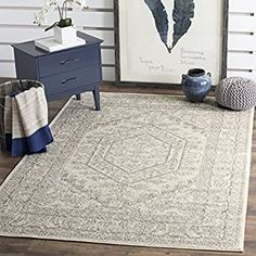 Amazon.com: Safavieh Adirondack Collection ADR108B Ivory and Silver Oriental Vintage Area Rug (9' x 12'): Kitchen & Dining