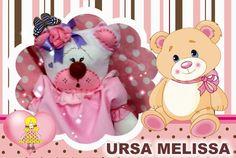 Ursa Melissa, confeccionada em feltro.  Maiores informações mande um e-mail para: artinpanno2013@gmail.com