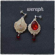 .seed beads beaded beads earrings