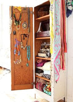 Jewelry & Accessory Cabinet Exclusive House Tour and Interview With Erica Domesek of P.S. I Made This...@Madison Green
