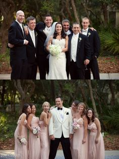 Absolutely love this idea. Bride with all the groomsmen and the groom with all the bridesmaids..so cute!