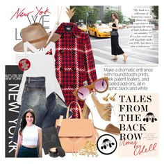 """""""Cosmo in the City"""" by ashley-rebecca ❤ liked on Polyvore featuring Miu Miu, Eugenia Kim, Linda Farrow Luxe, Dolce&Gabbana, Paula Mendoza, DANNIJO, Beauty Is Life, Yves Saint Laurent, StreetStyle and NYFW"""