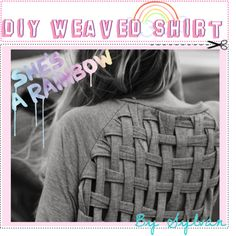 DIY Weaved Shirt