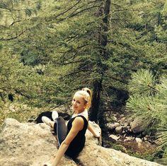Chloe Lukasiak hiking in the Colorado mountains.