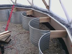 Using window wells for greenhouse beds