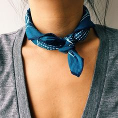 Today's neck accoutrement feat. our indigo-dyed plum flower handkerchief. #rogueterritory #rgtforeveryseason #neckselfie
