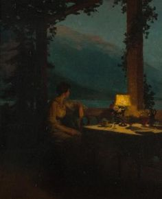Marcel Rieder (French, 1851–1925) Title: After Dinner on the Terrace