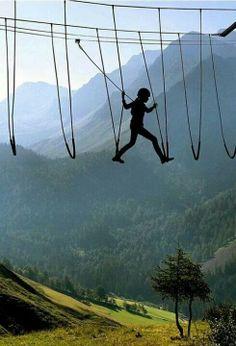 Sky walking - The Alps - Switzerland