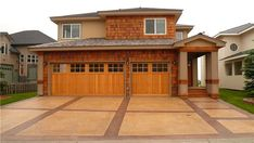 Custom Stamped Concrete Driveway And Entry Cut And Grouted