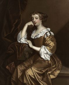 c. 1668 Elizabeth Wriothesley, Countess of Northumberland, later Countess of Montagu (1646-90) by Peter Lely | Threading Through Time