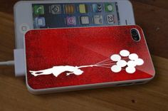 Banksy red design for iPhone 4/4s/5/5s/5c Samsung by furdancase, $14.89