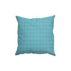 Coussin toile carré zip L 132 hélium turquoise