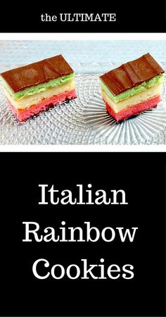 Traditional Italian Rainbow Cookies  I love these & show you the tricks to making them.  #cookies #italianfood