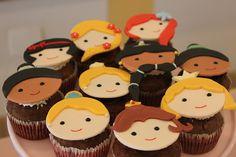 cup cakes princesas