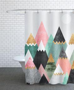Pretty Mountains as Shower Curtain by Elisabeth Fredriksson | JUNIQE