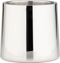 stainless steel shiny champagne-wine bucket    CB2