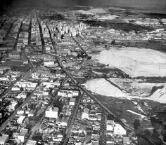 , a white slum area of the city with sandhills of various gold mines in the backgroud. Johannesburg City, Margaret Bourke White, Slums, Historical Pictures, Aerial View, Masters, South Africa, Landscape Photography, City Photo