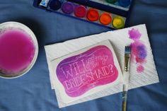 DIY watercolor card | Glamour & Grace
