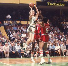 Larry Bird shoots over Caldwell Jones and Julius Erving during a 1981 Boston-Philadelphia game. The depleted Celtics could use Bird tonight when they take on the Heat. Boston needs one win to secure a trip to the NBA Finals. where they'd face Oklahoma City. (Manny Millan/SI)  ROSENBERG: Everything on the line for Heat tonight against CelticsVIDEO: Time to break up Big Three if the Heat lose on Thursday?GALLERY: Classic Photos of Larry Bird| Julius Erving