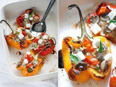 Gevulde paprika met gestoofde venkel -
