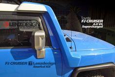 Toyota FJ Cruiser Snorkel Kit Lenzdesign Performance with supercharger Fj Cruiser Wheels, Fj Cruiser Mods, Toyota Land Cruiser Prado, Toyota Fj Cruiser, Mercedes Benz Cl, Lexus Gx, Wide Body Kits, Mitsubishi Galant, Lifted Ford Trucks