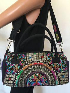 Bag Messenger Crossbody Floral Embroidery Designer Fashion Hip Chic  | eBay