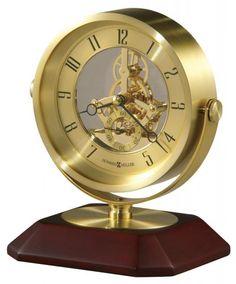 HOWARD MILLER Soloman -645674- Polished Brass Table Clocks CLOCKS$169.00
