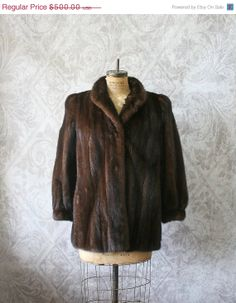 Vintage Mink Fur Coat by Christian Dior with Provenance (a recorded history of coat) $398.00