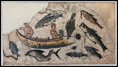 Mosaic Fragment of a Fishing Scene. Mosaic Fragment of a Fishing scene from Utica. Late Roman period: Dated by the British Museum to 4th-5th cent. CE.