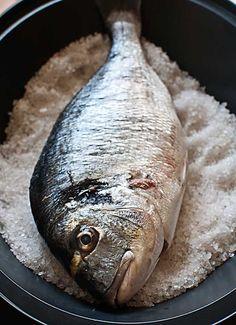 Cómo hacer pescado a la sal con Thermomix