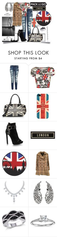 """London Fashion Week"" by jeneric2015 ❤ liked on Polyvore featuring Current/Elliott, WearAll, Casetify, Spicher and Company, Burberry, Blue Nile, women's clothing, women, female and woman"