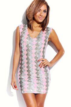 #1015store.com #fashion #style multi-color metallic sequin fitted pencil party mini dress-$50.00