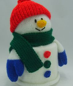 Snowman Toilet Roll Cover Knitting Pattern Novelty by TobyCreates