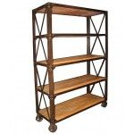 NOIR Furniture - Elm Shelf W/ Wheel - GBCS802OW  SPECIAL PRICE: $2,221.88
