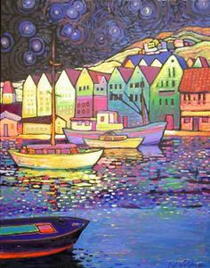 """""""Oslo"""" -28"""" x 22""""  Original oil by Neil Waldman available at the R. Michelson Galleries."""