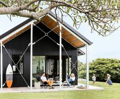 Shed Plans - A yearning for a beach retreat on the NSW South Coast turned into a cool shed home – and the owners couldn't be happier. Check it out! - Now You Can Build ANY Shed In A Weekend Even If You've Zero Woodworking Experience! Cool Sheds, Cheap Sheds, Shed Design, House Design, Shed Homes, Beach Shack, Building A Shed, Shed Plans, Modern Farmhouse