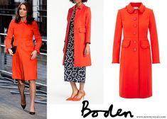 Boden Lena Frill Coat