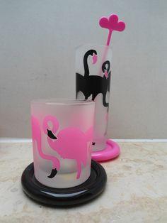 Leonardo Joy Gläser - haben wir alle gesammelt - die Flamingo Gläser hatte ich