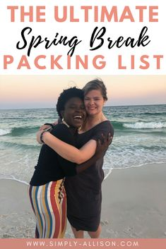 Your ultimate packing list for college spring break! Here are some things that you don't want to leave behind like clothing,toiletries,and technology. Spring Break Destinations, Travel Destinations, Spring Break Quotes, Packing List Beach, Spring Break Party, Ultimate Packing List, Autumn Summer, Fall, Travel Size Products