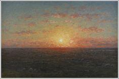 Per Ekström (1844-1935), Coucher de Soleil sur la Mer.