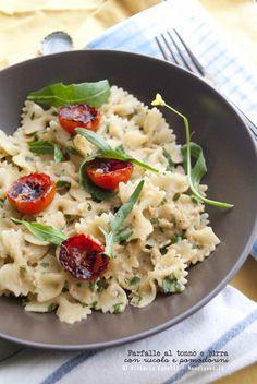 Pasta al tonno e birra, con rucola e pomodorini - Pasta with tuna and beer, with rocket and cherry tomatoes