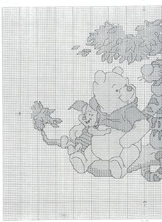 Borduurpatroon Winnie the Pooh kruissteek *Cross Stitch Pattern ~Tall Stories Disney Cross Stitch Patterns, Cross Stitch For Kids, Pooh Beer, Cross Stitching, Cross Stitch Embroidery, Craft Patterns, Quilt Patterns, Winnie The Pooh Friends, Tatty Teddy