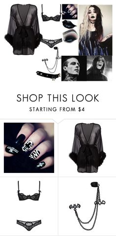 """Nicole and Ryan"" by the-happy-emo ❤ liked on Polyvore featuring WALL, Gilda & Pearl and L'Agent By Agent Provocateur"