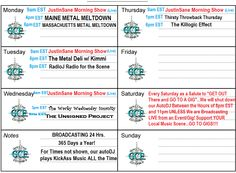 SCHEDULE http://granitecoastentertainment.com/index.php/metal-and-rock-and-punk