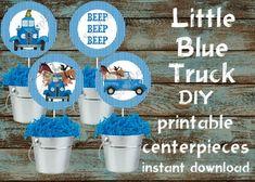 Little Blue Truck Centerpieces, Little Blue Truck Party Supplies