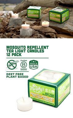 Natural Mosquito Repellent Tea Light Candles Tea Light Candles, Tea Lights, Mosquito Plants, Natural Mosquito Repellant, Amazon Home Decor, Free Base, Gardening Gloves, Lawn, Fresh