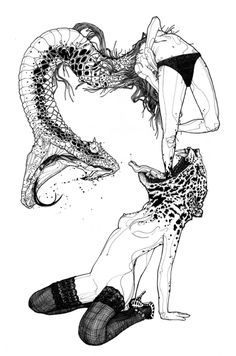 snake & tiger